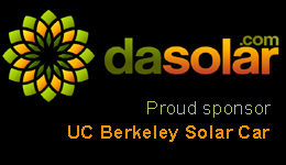 dasolar.com proud sponsor of Berkeley solar car