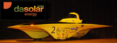 Michigan solar car sponsored by DAsolar solar panel installation