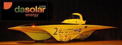 Michigan solar car sponsored by DAsolar solar panel installation