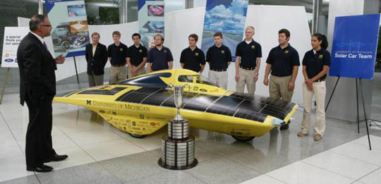 Michigan solar car team has a winning tradition