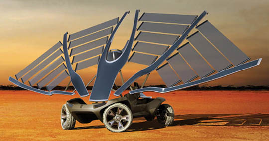 Solar energy will power some very exotic solar powered cars in the future
