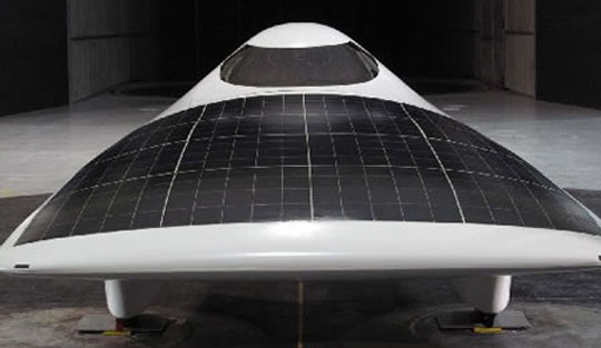 mit solar car is tested and ready for the World Solar Challenge in Australia.  Solar powered car with aerodynamics.