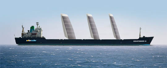 solar powered boats are a great way to save fuel costs, this tanker will save at least 20% through solar and wind power