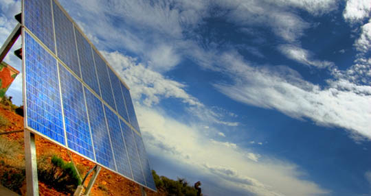solar panels convert the suns energy into clean free electricity