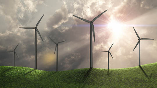wind power is growing as wind power generators are becoming more efficient