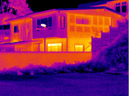 Your energy auditor will use a FLIR camera to show where heat escapes from your home